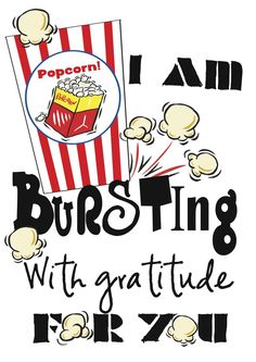 Teacher appreciation week - popcorn treat tag - I found super cute popcorn printables at http://freebiefriday.guildcraftinc.com/index.php/happy-new-year-and-freebie-fridays-are-back/ and made a little tag to go on my girl's gift for their teachers. #teacherappreciationgifts