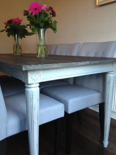 Kathryn loves the vintage charm of the Bourbon Dining Table and the Flynn chairs.