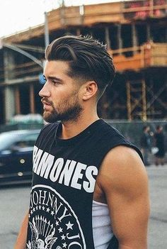 fade haircut on medium long hair #FashionTrendsHair