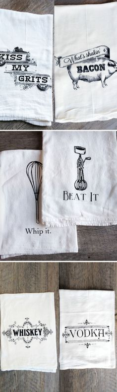 Cute Tea Towels - hand printed, and would make a great #gift
