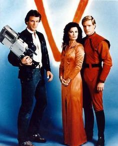 "80's TV Series ""V""....shhhhh....I don't want to spoil it for you, but they are really lizards from outer space."