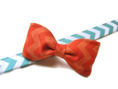 Mix and Match Chevron Dog Bowtie Collar- RILEY is Available in All Sizes - Mix and Match your own Design from 20 Available Colors. $20.00, via Etsy.