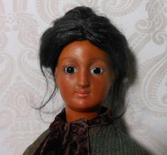Rare and Beautiful Black Bisque Head French Fashion Poupee Peau Smiling Bru Lady Doll