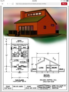 Small house or studio? Old house! Small Tiny House, Tiny House Cabin, Small House Design, Tiny House Living, Small House Plans, House Floor Plans, Small Homes, Small Loft, Casas Containers