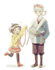 Himawari and Mitsuki, by Pixiv Id 6396665 Uzumaki Boruto, Naruto Shippuden Anime, Chibi, Mitsuki Naruto, Kawaii Anime, Chibi Characters, Transformers Artwork, Loki Drawing