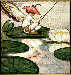 Another Fanny Cory from another obscure magazine cover I bought years ago--LOL! One of my fav fairies ever! It would be amazing framed, but