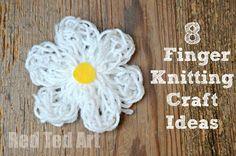 Finger Knitting for Kids - great ideas from @redtedart !