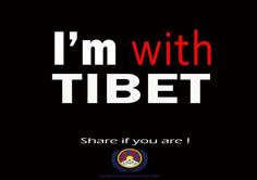 .I'm with #Tibet. Are you? Everyone needs to be. Tell #China.