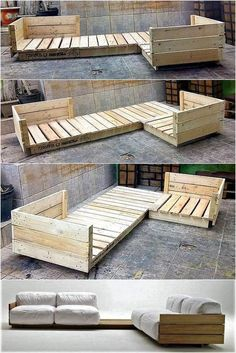 Kiste und Palette DIY Palettenmöbel Source by Diy Garden Furniture, Wooden Pallet Furniture, Porch Furniture, Furniture Projects, Wood Pallets, Outdoor Furniture, Rustic Furniture, Outdoor Couch, Antique Furniture