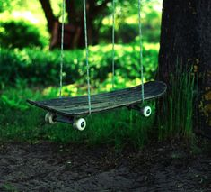 Useful Products Made From Repurposed Skateboards   Upcycled Skateboard Swing