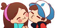 Resultado de imagen para dipper y mabel kiss