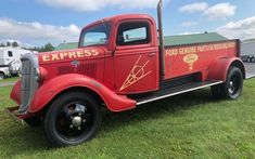 This rare, mostly-original 1935 Ford Express Parts Delivery Truck is in excellent running and driving condition. Where would you like to show it off? #FordExpress Post War Era, Best Barns, Large Truck, New Starter, Radiator Hose, New Tyres, Barn Finds, Car Show