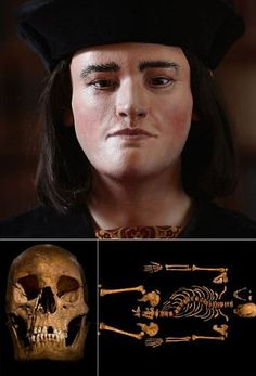 The face of King Richard III: Reconstruction reveals what slain king looked like 500 years ago after his remains were found under a car park •Image was reconstructed from 3D scans of Richard's skull  •Comes after experts yesterday confirmed Leicester skeleton was him   http://www.dailymail.co.uk/sciencetech/article-2273703/The-face-Richard-III-Reconstruction-reveals-slain-king-500-years-killed-battle.html#axzz2JzXFl5zk