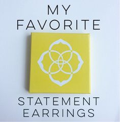 Faith's Girly Life: My Faveorite Statement Earrings