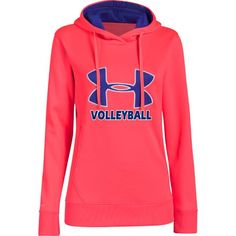 NEW at All Volleyball! Under Armour Womens Big Logo Hoodie - Neo Pulse $54.99