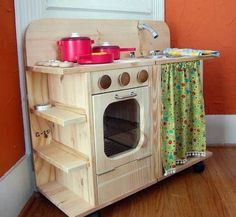 wooden play kitchen- If I ever have a daughter I will make sure she gets this lol