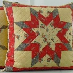 Baby Patchwork Quilt, Patchwork Cushion, Quilted Pillow, Quilt Block Patterns, Quilt Blocks, Diy Pillow Covers, Christmas Cushions, Sewing Pillows, Diy Sewing Projects