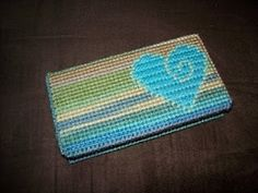 Knit One, Swear One: Weekend Project: Plastic Canvas Checkbook Cover