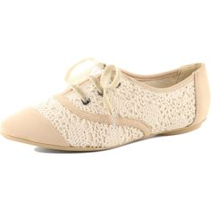 Cream crochet oxford shoes ($17) ❤ liked on Polyvore featuring shoes, oxfords, flats, sapatos, zapatos, women, flat shoes, velvet shoes, dorothy perkins shoes and cream oxfords