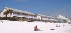Beachside view of the only Motel in Destin right next to the beach--cheap stay Sea Oats Motel destin
