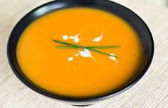Fragrant Gingered Carrot and Coconut Soup  2 tablespoons butter  1 tablespoon vegetable oil  1 onion, chopped  1 clove garlic, chopped  1 tablespoon grated, fresh ginger  6 carrots, peeled and sliced  3 large sweet potatoes, peeled and cubed  1 tablespoon brown sugar  ½ teaspoon fresh ground black pepper  1 ½ teaspoon salt  3 cups chicken stock, hot  1 teaspoon lime zest  1 tablespoon lime juice  1 (13.5 fl oz) can coconut milk, 1 tablespoon reserved  Sprigs of chives