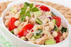 Light Salad Recipe: Tuna, White Bean & Cucumber Salad