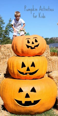 16 awesome pumpkin activities for kids including crafts, learning, play and more!