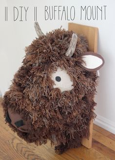 Make this huge buffalo head! So cute for an rustic theme nursery!!