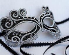 Gold masquerade mask. masquerade lace metal by Stefanelbeadwork