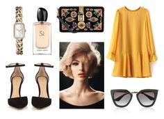 """204"" by thaina-poiato ❤ liked on Polyvore featuring Gianvito Rossi, Dolce&Gabbana, Giorgio Armani, Chanel and Prada"