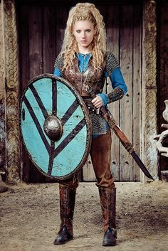 Lagertha by actress Katheryn Winnick on Vikings | Lagertha was, according to legend, a Viking shieldmaiden from what is now Norway, and the onetime wife of the famous Viking Ragnar Lothbrok.