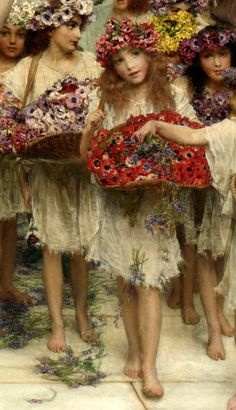 Sir Lawrence Alma-Tadema-Spring-detail
