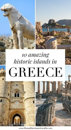 All of the Greek islands have their own unique charm, but what are the best Greek islands for historic sites? These 10 islands won't disappoint if you like old stuff and epic sites, from the incredible Minoan sites on Crete and Santorini to the crusader castles on Rhodes and Kos, and the amazing medieval villages of Chios. #greece #greekislands #europe #history #travel #tmtb Top Travel Destinations, Europe Travel Guide, Crete, Chios Greece, Best Greek Islands, Greek Island Hopping, Heraklion, Machu Picchu, Greece Travel