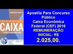 Apostila Concurso Público Caixa Econômica Federal Técnico Bancário 2016
