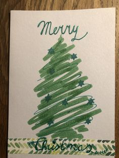 Handlettering met wasi tape Santa Mail, Watercolor Cards, Christmas Cards, Christmas Tree, Doodles, Merry, Picasso, Diy Ideas, Education