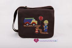"""Kindergartentasche """"Baustelle"""" von Farbenwelt auf DaWanda.com"""