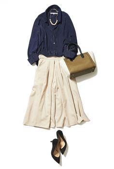 優しい印象のミルクティー色スカーチョならON/OFFエレガントが叶います! ― B Jw Fashion, Tokyo Fashion, Office Fashion, Fashion Books, Skirt Fashion, Daily Fashion, Womens Fashion, Unique Outfits, Cool Outfits