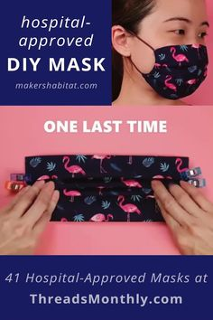Easy Face Masks, Diy Face Mask, Sewing Hacks, Sewing Tutorials, Sewing For Beginners, Sewing For Kids, Sewing Patterns Free, Hand Sewing, Sewing Diy