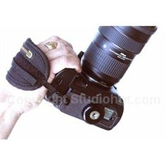 We offer Cotton Carrier hand straps for most cameras. This Hand Strap is designed to fit any SLR camera body, full-bodied pro camera, camera with battery grip, or regular size camera using a standard tripod hole.