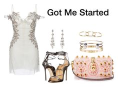 """Got Me Started"" by anaelle2 ❤ liked on Polyvore featuring Francesco Scognamiglio, Dsquared2, Dolce&Gabbana, Isabel Marant, Cartier, Letters By Zoe and Dezso by Sara Beltrán"