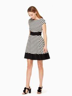 ponte stripe fiorella dress | Kate Spade New York