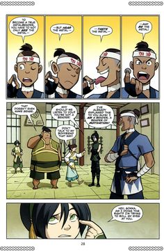 Sokka's headband reads 加油 jia1you2, a cheer to motivate and encourage others whether in sports or exams :: Avatar: The Last Airbender - The Promise 2 Page 30