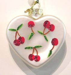 Heart ornament with cherries...cute, too...