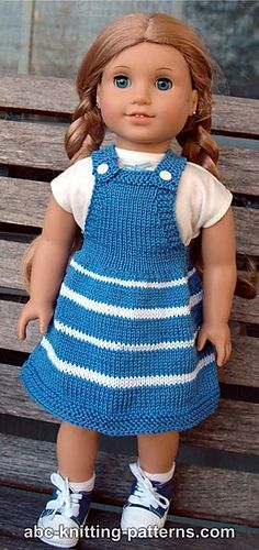 American Girl Doll Fair Skies Jumper pattern by Elaine Phillips