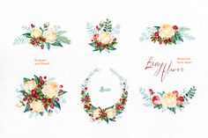 Berry Flavor. Floral collection by OctopusArtis on Creative Market