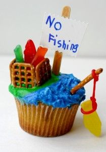 Gone Fishing Cupcakes for Father's Day