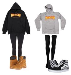 """""""Girlfriend"""" by strawberrymilkshake9 on Polyvore featuring Timberland and Vans"""