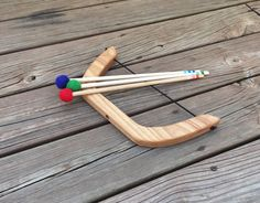 Hey, I found this really awesome Etsy listing at https://www.etsy.com/listing/240427154/wooden-bow-and-arrows-natural-toy-play
