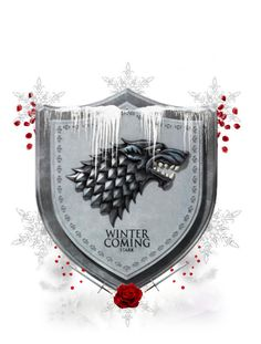 """Heraldry - House Stark"" by greerflower ❤ liked on Polyvore featuring art"