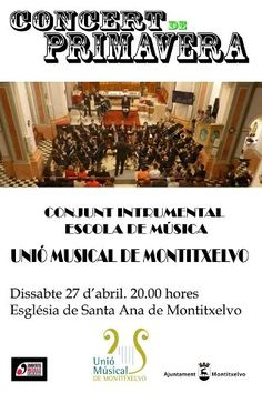 Spring concert on the 27th of April in Montitxelvo.